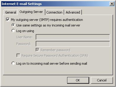 Authenticating the SMTP Server